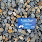 20mm Bluestone chips with a boundary rd, mordialloc, garden supplies business card in melbourne