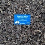 sample of Fine Pine Mulch-Bark near me with mordialloc garden supplies melbourne business card
