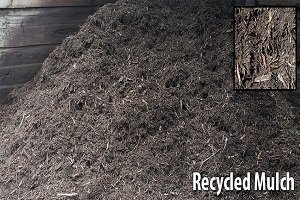 bulk bin of recycled garden mulch for landscaping in melbourne