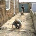 laying crushed rock for paving from bayside garden supplies in mordialloc, melbourne