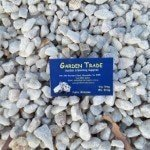 small-white-ice-marble , river pebbles, near me with a melbourne garden supplies business card